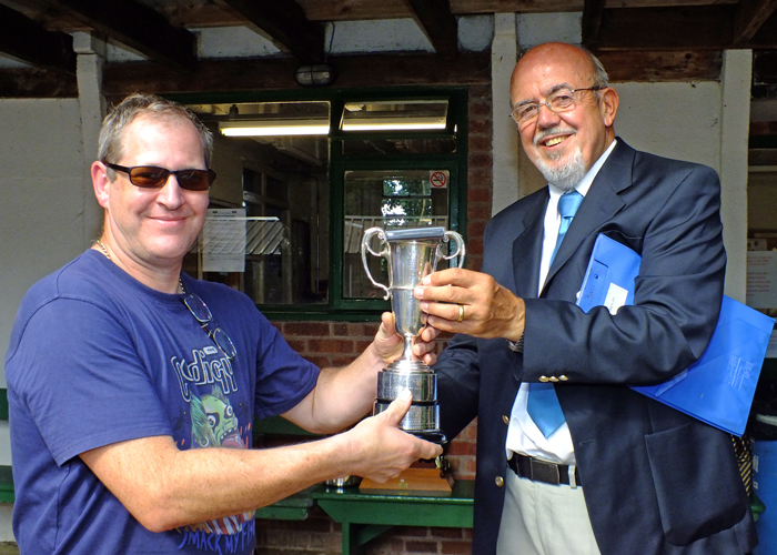 Photograph shows SSRA Chairman - Richard Tilstone (pictured right), presenting the Moat Cup and Medal to Paul Baron (pictured left).
