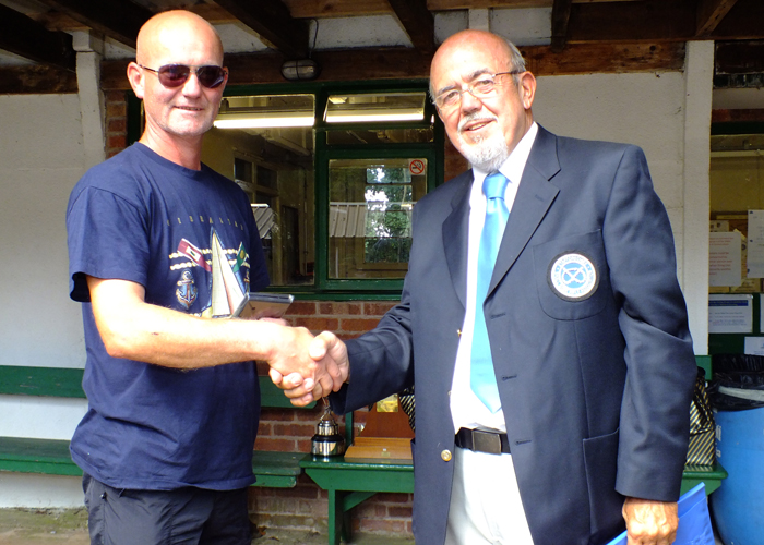 Photograph shows SSRA Chairman - Richard Tilstone (pictured right), presenting Medal to Paul Watkiss (pictured left).