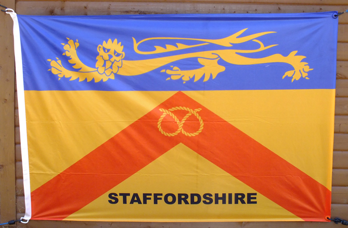 Photograph shows the Staffordshire County Flag, displayed at the recent SSRA Combined Open Squadded Rifle Meeting 2018.