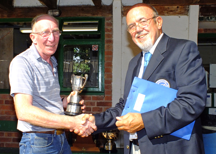 Photograph shows SSRA Chairman - Richard Tilstone (pictured right), presenting the Association Cup to Steve Rowe (pictured left).