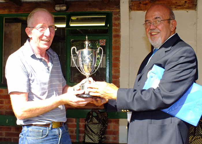 Photograph shows SSRA Chairman - Richard Tilstone (pictured right), presenting the Michelin Cup to Steve Rowe (pictured left).