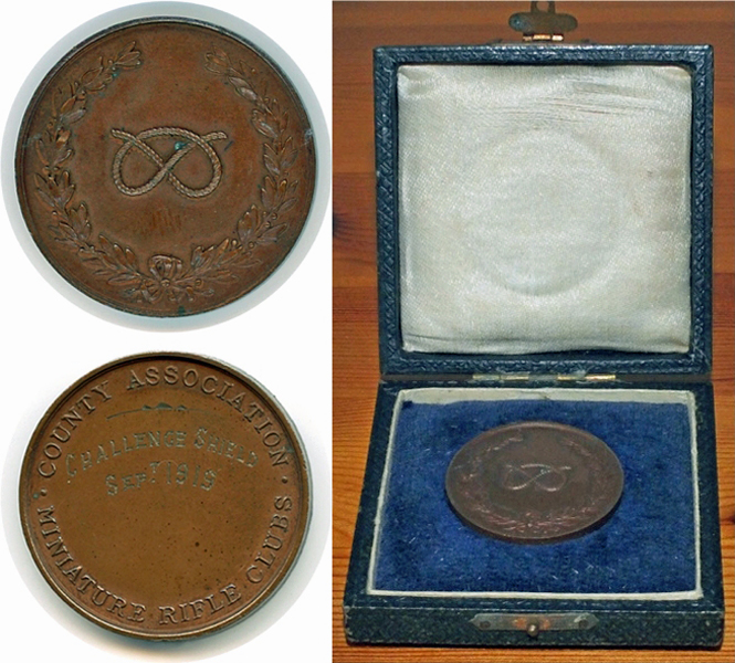 Photograph shows the Challenge Shield Winners Medal, September 1919.