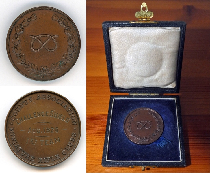 Photograph shows the Challenge Shield Winners Medal, August 1920.