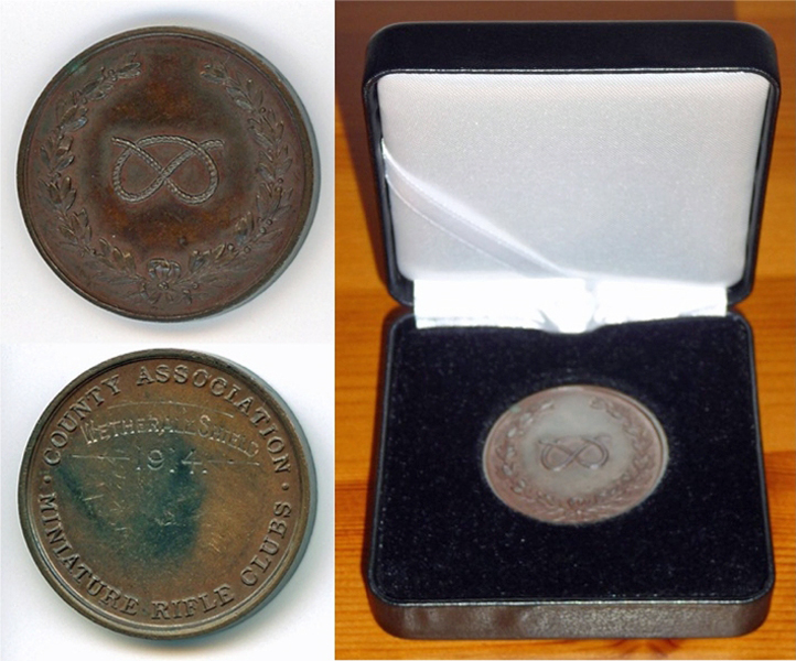 Photograph shows the Weatherall Shield Winners Medal 1914.